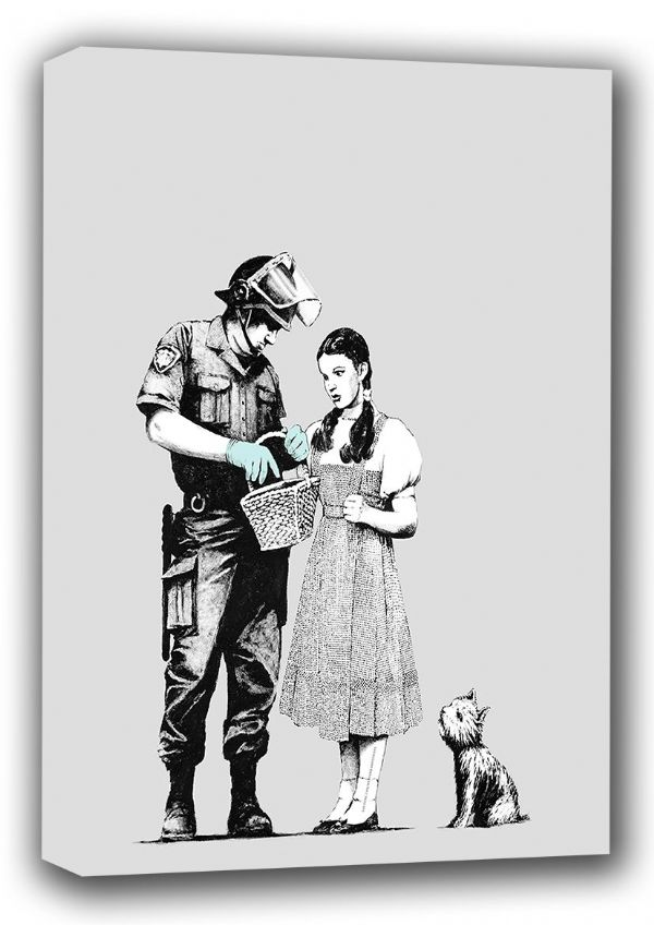 Banksy: No Ball Games. Graffiti Fine Art Canvas. Sizes: A4/A3/A2/A1 (001187)